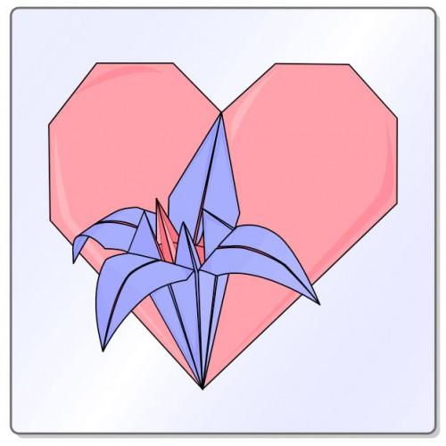 Heart with iris